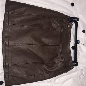 Free people leather skirt.
